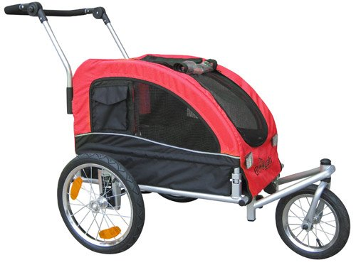 Booyah Medium Dog Bike Trailer Stroller Review | Furwheels.com