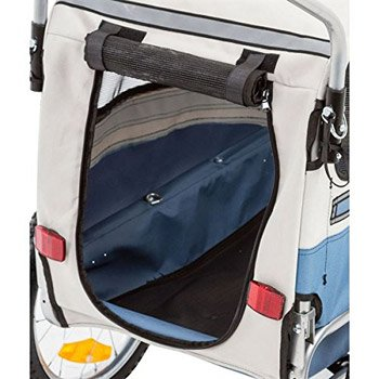 Pull-Behind-Dog-Bike-Carrier-Bicycle-Pet-Trailer-rear-view