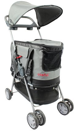 Pet Stroller With Removable Carrier