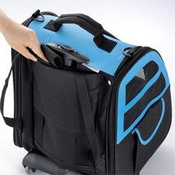 Pet Gear I-GO2 Traveler Rolling Backpack Carrier for Cats and Dogs
